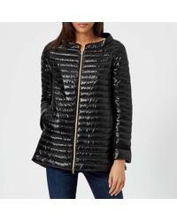 Herno - Women's Long Sleeve Shiny Zip Up Cape Coat - Lyst