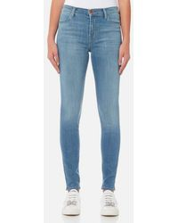 J Brand - Women's Maria High Rise Skinny Jeans - Lyst