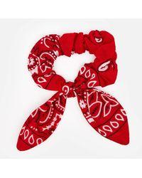 ARIZONA LOVE Chouchou Bandana Scrunchie - Red
