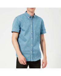 Acne Studios Isherwood Short Sleeve Denim Shirt