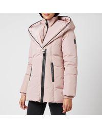 Mackage Adali-nfr Hooded Down Jacket - Pink