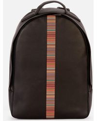 PS by Paul Smith Signature Stripe Backpack - Black