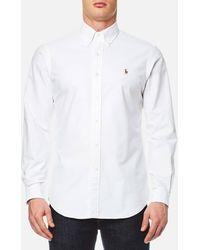 Polo Ralph Lauren Long Sleeved Shirt - White