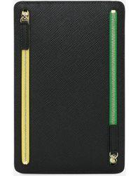 Smythson Panama Zip Currency Case - Multicolour