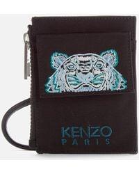 KENZO Kampus Canvas Cardholder On Strap - Multicolor