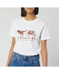 COACH Rexy And Carriage T-shirt - White