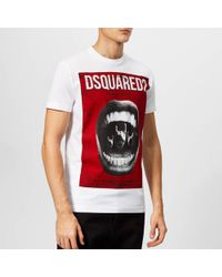 DSquared² - Mouth Print T-shirt - Lyst