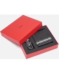 HUGO Wallet And Key Holder Gift Box - Black