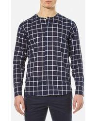 Folk - Men's Collarless Shirt - Lyst