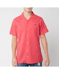 Polo Ralph Lauren Camp Collar Shirt - Pink