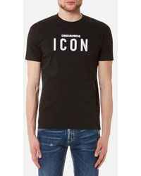 DSquared² - Men's Icon Logo Long Cool Fit Tshirt - Lyst