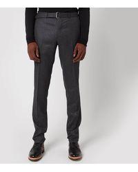 Officine Generale Paul Wool Flannel Trousers - Grey
