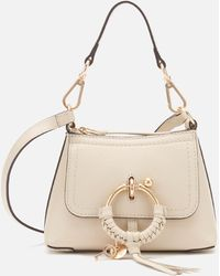 See By Chloé Mini Joan Leather Cross Body Bag - Natural