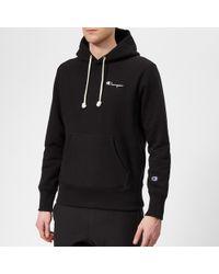 Champion Small Logo Hooded Sweatshirt - Black