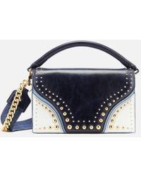 Diane von Furstenberg - Women's Bonne Soiree Curved Flap Bag - Lyst