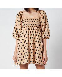 Faithfull The Brand Faithful The Brand Dallia Mini Dress - Natural