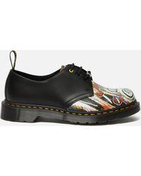 Dr. Martens X Basquiat 1461 Leather 3-eye Shoes - Black