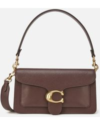 COACH Coach Mixed Leather Tabby Shoulder Bag 26 - Brown