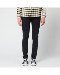 Edwin Ed-85 Slim Tapered Drop Crotch Ayano Black Denim Jeans