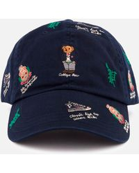 37ec7542 Polo Ralph Lauren Men's Cotton Chino Bear Bucket Hat in Blue for Men - Lyst