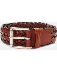 Anderson's Woven-leather Belt - Brown