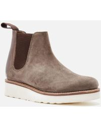 Grenson - Women's Lydia Suede Chelsea Boots - Lyst