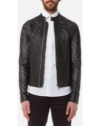 Versace - Men's Perforated Leather Jacket - Lyst
