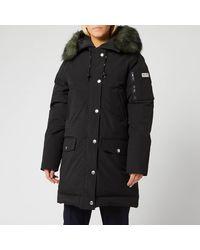 KENZO Technical Outerwear Nylon Long Parka - Black