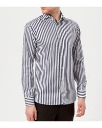 Eton of Sweden - Men's Slim Fit Butcher Stripe Extreme Cut Away Collar Shirt - Lyst