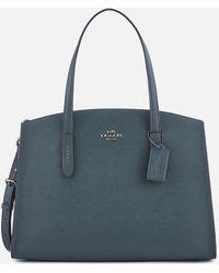 COACH Polished Pebble Leather Charlie Carryall Bag - Blue