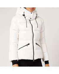 Mackage Madalyn Down Jacket With Removable Hood In Off White - Women
