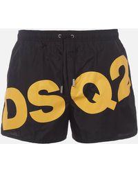 DSquared² Large Logo Swim Shorts - Black