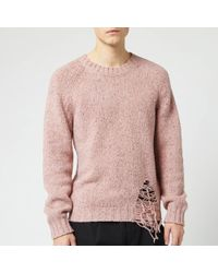 Maison Margiela Distressed Jumper - Pink