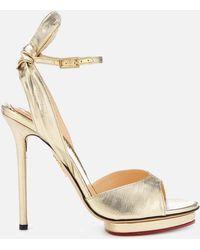Charlotte Olympia Wallace Sandals - Metallic