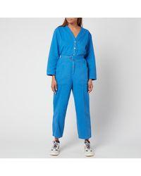A.P.C. Gaelle Jumpsuit - Blue