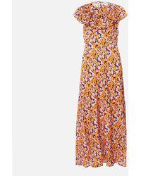 RIXO London Lacey Midi Dress - Orange