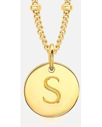 Missoma | Women's Initial Charm Necklace S | Lyst