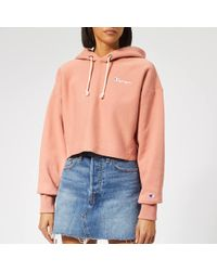 Champion Cropped Hoodie - Pink