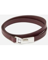 Miansai - Men's Moore Wrap Bracelet With Silver Catch - Lyst