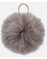 Furla - Women's Bubble Pon Pon Monocol Keyring - Lyst