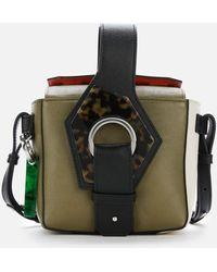 Ganni Colour Block Bucket Bag - Multicolour