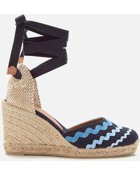 Castaner Craby Wedged Espadrille Sandals - Blue