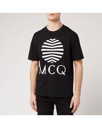 McQ Japanese Logo Print Black T-shirt