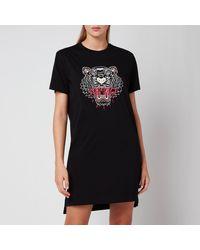 KENZO T-shirt Dress Tiger Classic - Black