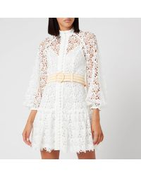 Zimmermann Empire Fit Flare Short Dress - White
