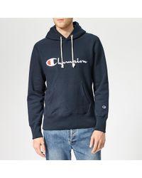Champion Script Hooded Sweatshirt - Blue