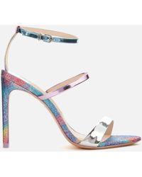 Sophia Webster Rosalind Triple Strap Heeled Sandals - Purple