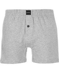 A.P.C. Calecon Cabourg Boxers - Gray