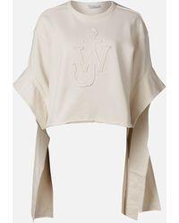 JW Anderson Tab Logo Sweatshirt - White