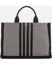 Thom Browne Squared Tote Bag - Black